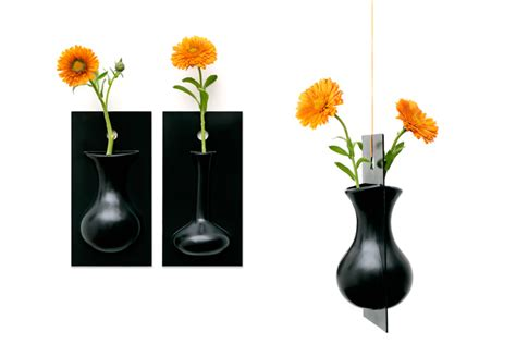 cool vases cool wall flower vase flow by ernest perera digsdigs