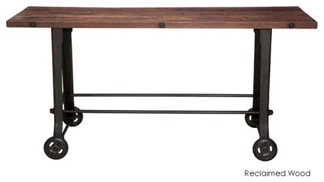 Bar Top Table by V17 Bar Table Reclaimed Wood Top Eclectic Indoor Pub