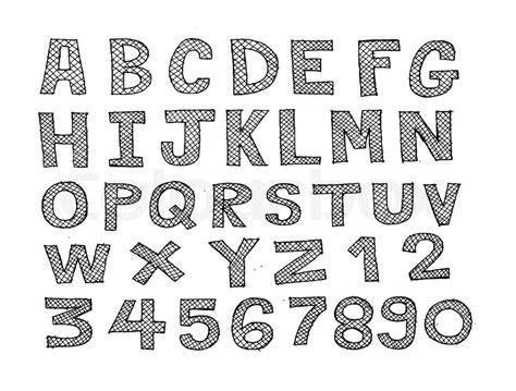 design lines font design of line font sketch hand drawing vector letters