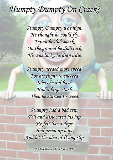 full version of humpty dumpty humpty dumpty on crack limericks