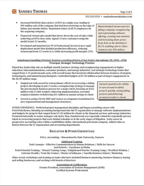 Resume C Level by C Level Resume Resume Ideas