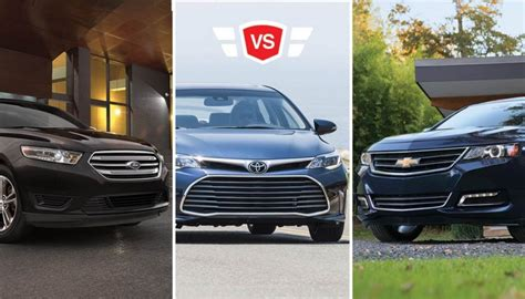 ford taurus vs chevy impala ford taurus vs chevy impala vs toyota avalon size