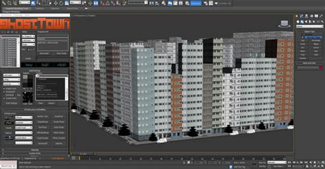 tutorial design builder create a detailed city with 3d studio max ghost town