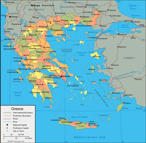 greece on map greece map and satellite image