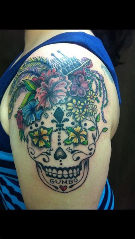 mississippi sugar skull by bad tattoos tattoos