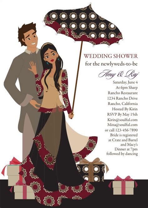 dholki invitation cards template umbrella indian bridal shower invitations by