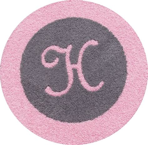 monogram rugs baby nursery aqua light pink white nursery with custom initial rug project nursery