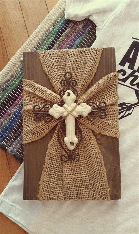 burlap crafts burlap cross plaque by sevenheartsforhope on etsy craft