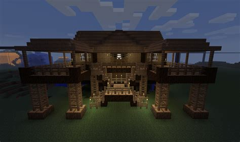 cool house designs minecraft minecraft building ideas stilt house