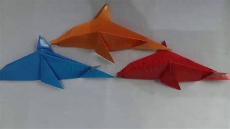 Mainan Lumba Lumba origami tutorial origami dolphin cara membuat mainan