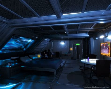 spaceship bedroom scifi bedroom cyberpunk and science fiction pinterest