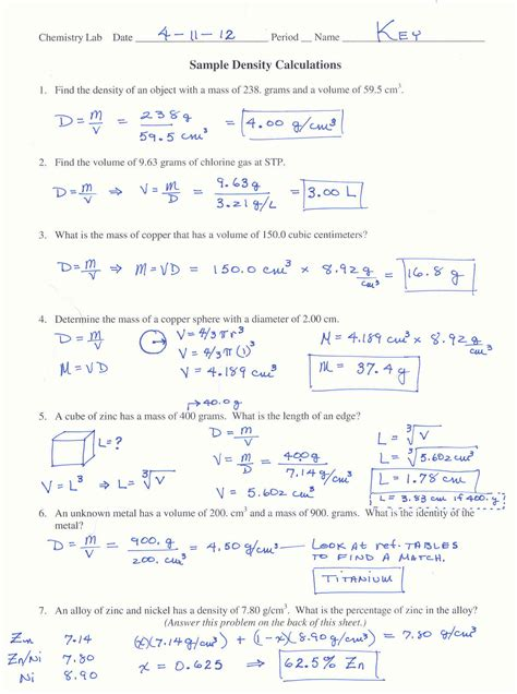 Mole Conversion Practice Problems Worksheet With Answers by C7chemistry What S Happening Spr 2012