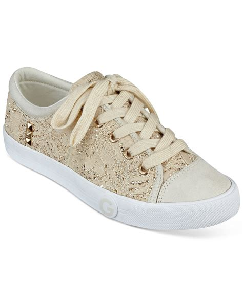 guess sneakers g by guess oona sneakers in metallic lyst