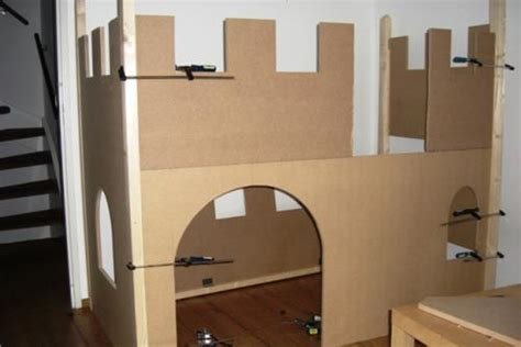diy castle bed ana white my son s castle bed with slide diy projects