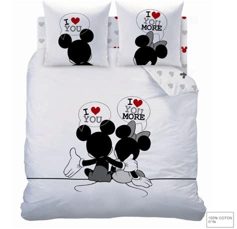 Housse De Couette Mickey Et Minnie 2 Personnes by Mickey Minnie Parure De Lit Housse De Couette