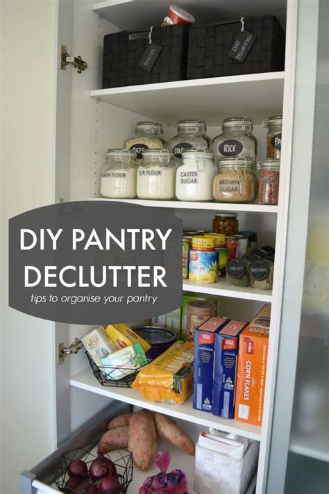 diy how to perfectly organize your pantry diy crafts mom diy pantry declutter tips to organise your pantry