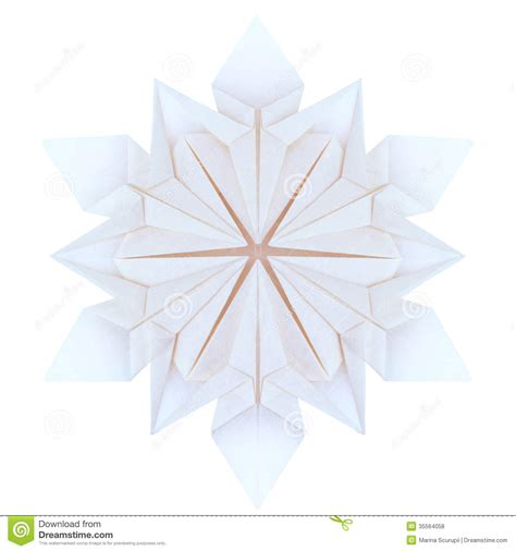 Winter Origami - origami snowflakes stock illustration image of white