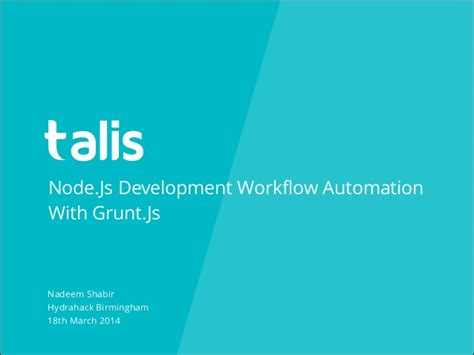 node js development workflow automation with grunt js