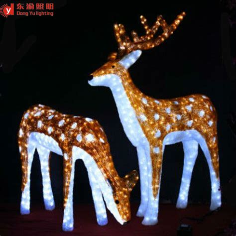 led outdoor reindeer outdoor decoration animated led reindeer buy led reindeer