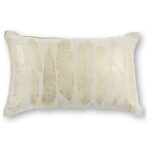 Feathers For Pillows by Gold Feathers Pillow