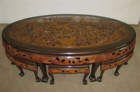 Carved Coffee Table With Stools by 10 Best In The Basement Finds Images On