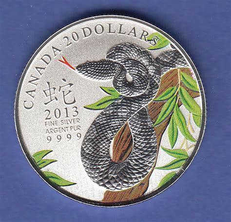 Brief Schweiz Kanada Kanada 2013 Schlange Auf Ast Colorierte Silberm 252 Nze 20 Dollar Stempelglanz 183 Tilman Dohren