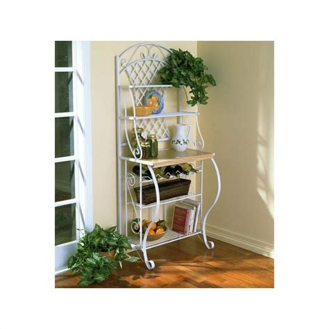 Bakers Rack With Wine Storage by Southern Enterprises Trellis Bakers Rack With Wine Storage