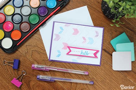 Make Your Own Watercolor Paper - diy watercolor cards with embossed detail darice