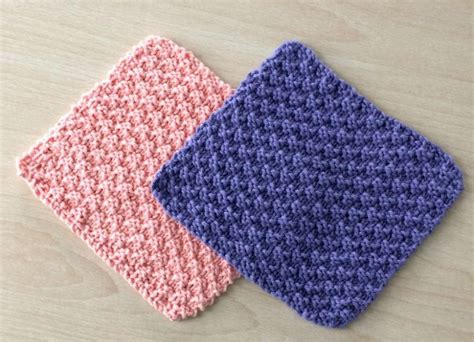 knitted dishcloths knit and purl dishcloths allfreeknitting