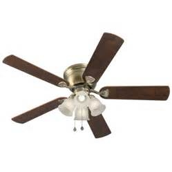 Vintage Ceiling Fan With Light Shop Harbor Centreville 52 In Antique Brass Flush