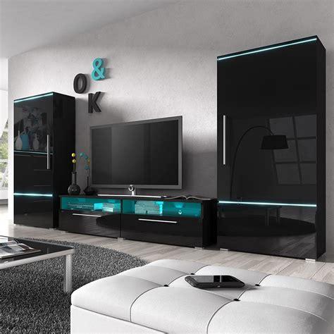 Ensemble meuble tv noir laqué   Choix d'électroménager