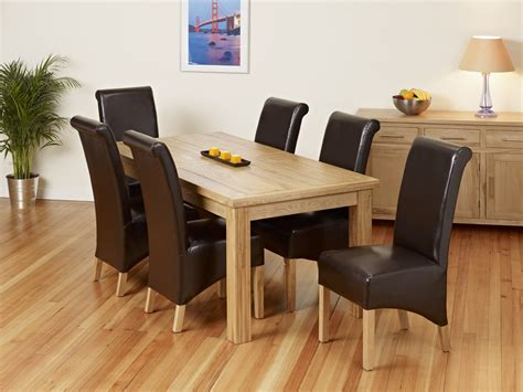 Oak And Leather Dining Room Chairs Oak And Leather Dining Room Chairs 2306