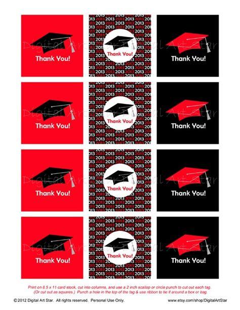 printable graduation labels personalized graduation party favor tags printable diy