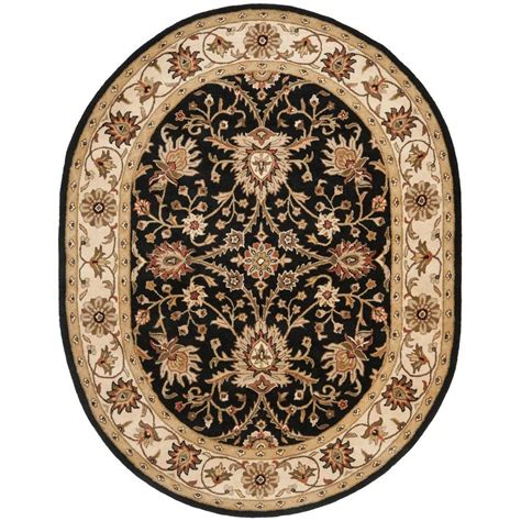 Black Oval Area Rugs by Safavieh Antiquity Black 7 Ft 6 In X 9 Ft 6 In Oval