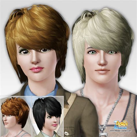 what is a dymensional haircut the sims 3 dimensional bangs haircut id 214 by peggy zone