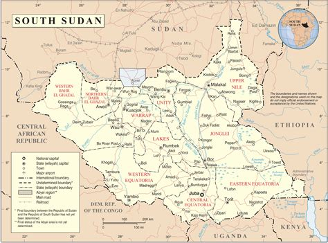 africa map south sudan prinatble south sudan map south sudan political map south