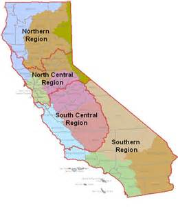 4 regions of california map maps and reports
