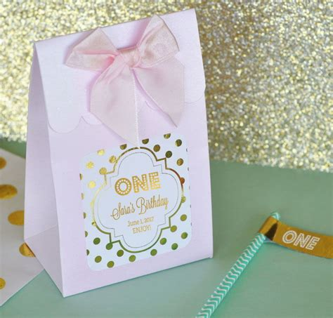 buffet favor boxes 144 personalized foil birthday favor bags