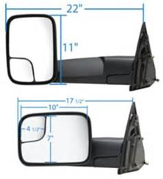 Truck Blind Spots K Source Custom Power Heated Towing Mirror Flip Out