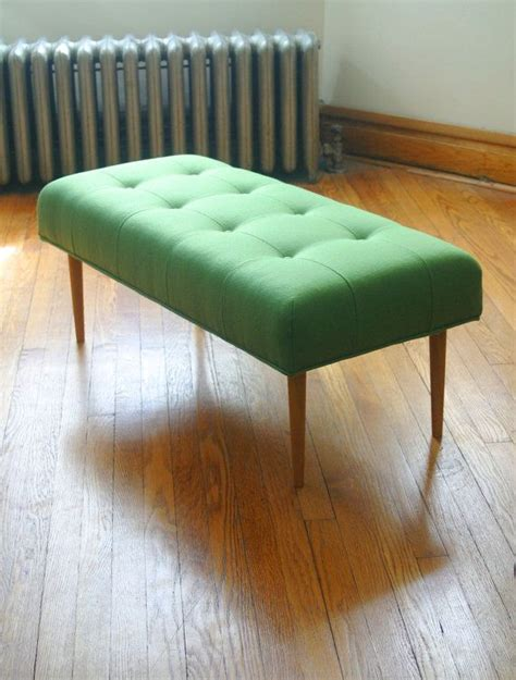Knoll Upholstery by Modern Bench In Knoll Upholstery Green