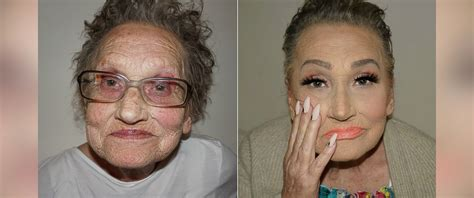 old men make overs 80 year old grandmother is known as glam ma after