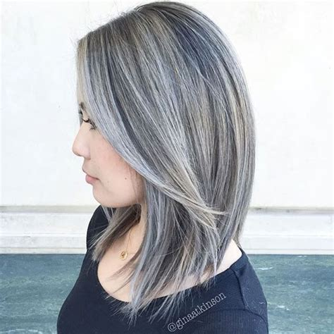 hairstyles for slightly grey highlighted hair 1000 images about transitioning highlights gray blending