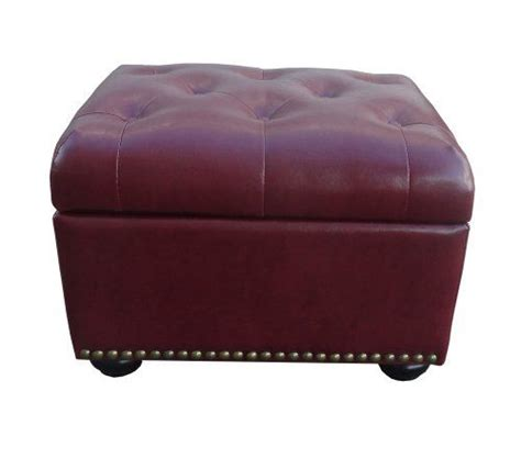 burgundy ottoman duke tufted storage ottoman burgundy products pinterest