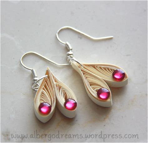 How To Make Paper Jewellery - quilled earrings 2 albergo dreams