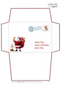 santa envelope template printable letter to santa claus envelope template santa