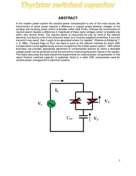 switched capacitor notes thyristor switched capacitor