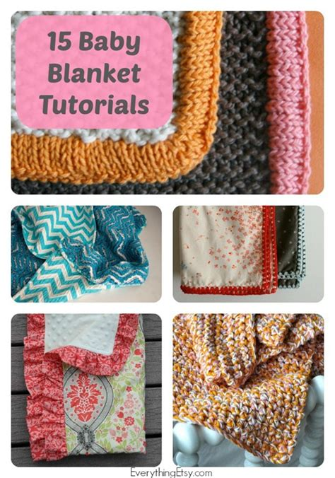 Handmade Gifts Tutorials - 15 handmade baby blanket tutorials