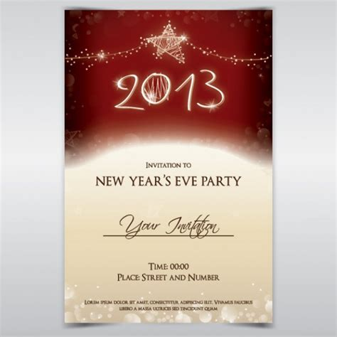 new year invitation design holidays glade invitation about new year card design