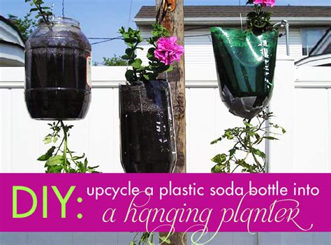 hanging planter   recycled plastic