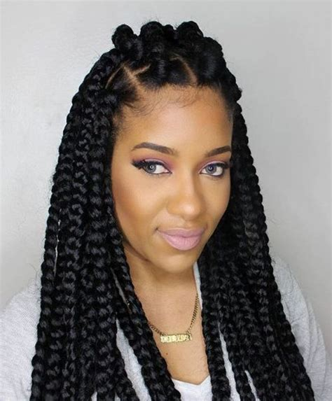 thick box braid hairstyles 70 best black braided hairstyles that turn heads in 2018